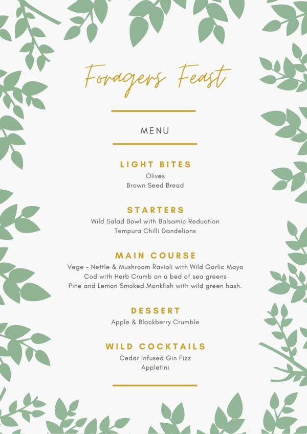 Foragers-feast-menu